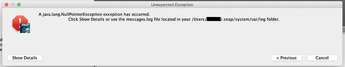 UnexpectedExceptionSNAP