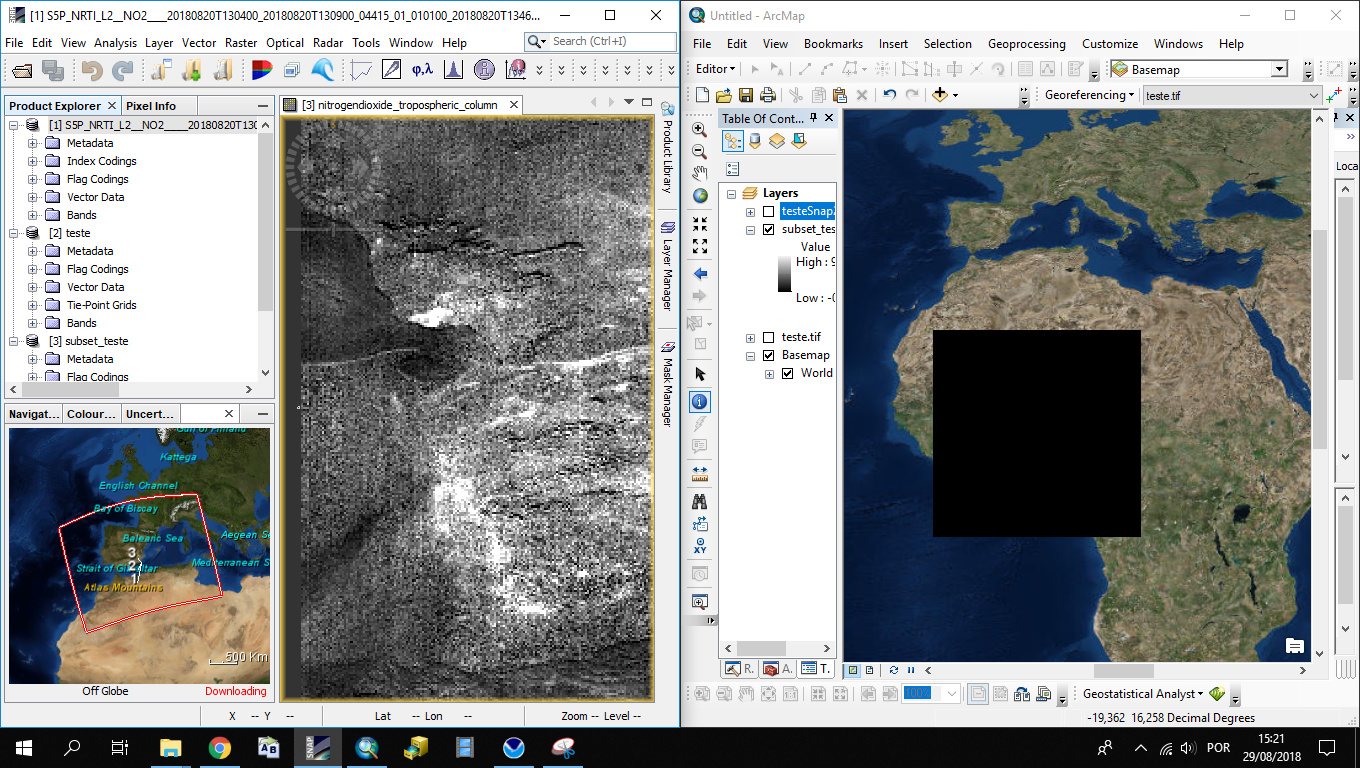 Sentinel 5p raster creation - snap - STEP Forum