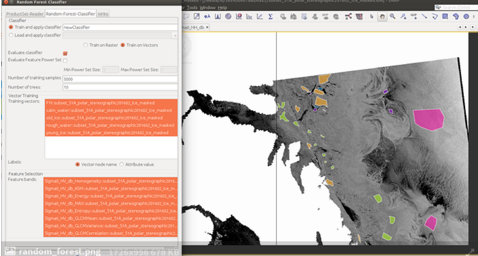 SVM classification in Sentinel 1A using SNAP - snap - STEP Forum