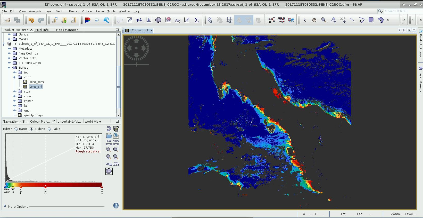 Change in image when converted to geotiff and loaded in QGis - snap
