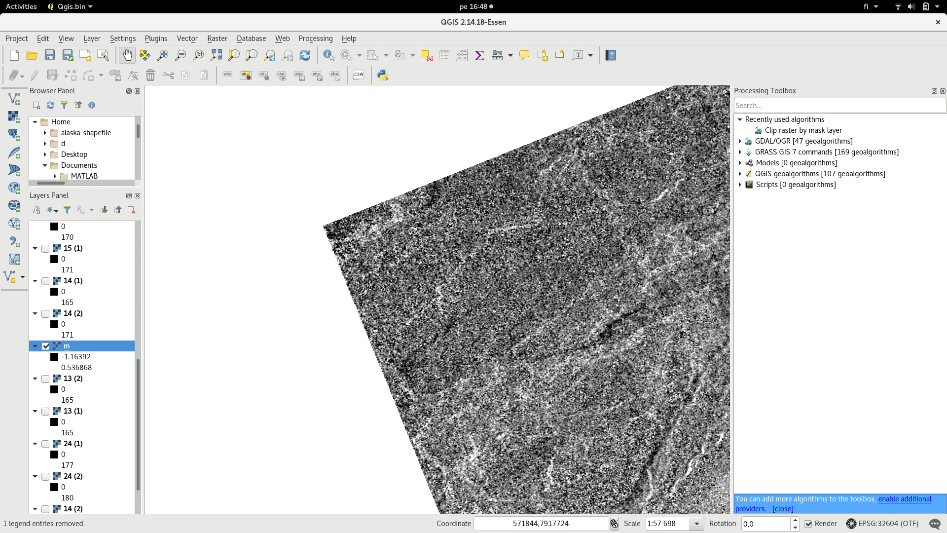 Wierd values around my colored image from SNAP to QGIS