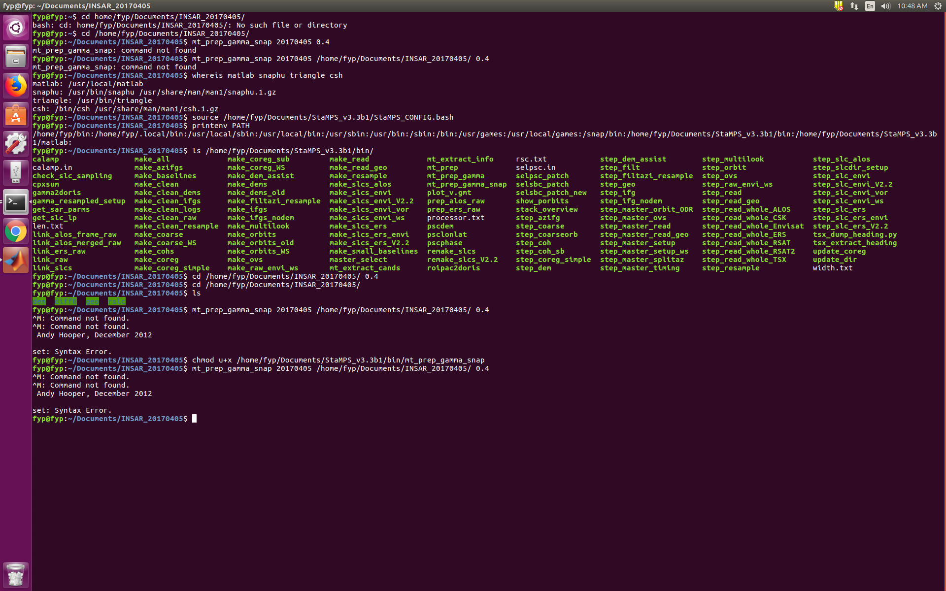 Linux Installation using StaMPS and S-1 data - STaMPS - STEP Forum