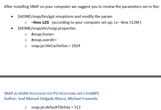 Snap2stamps package: a free tool to automate the SNAP-StaMPS