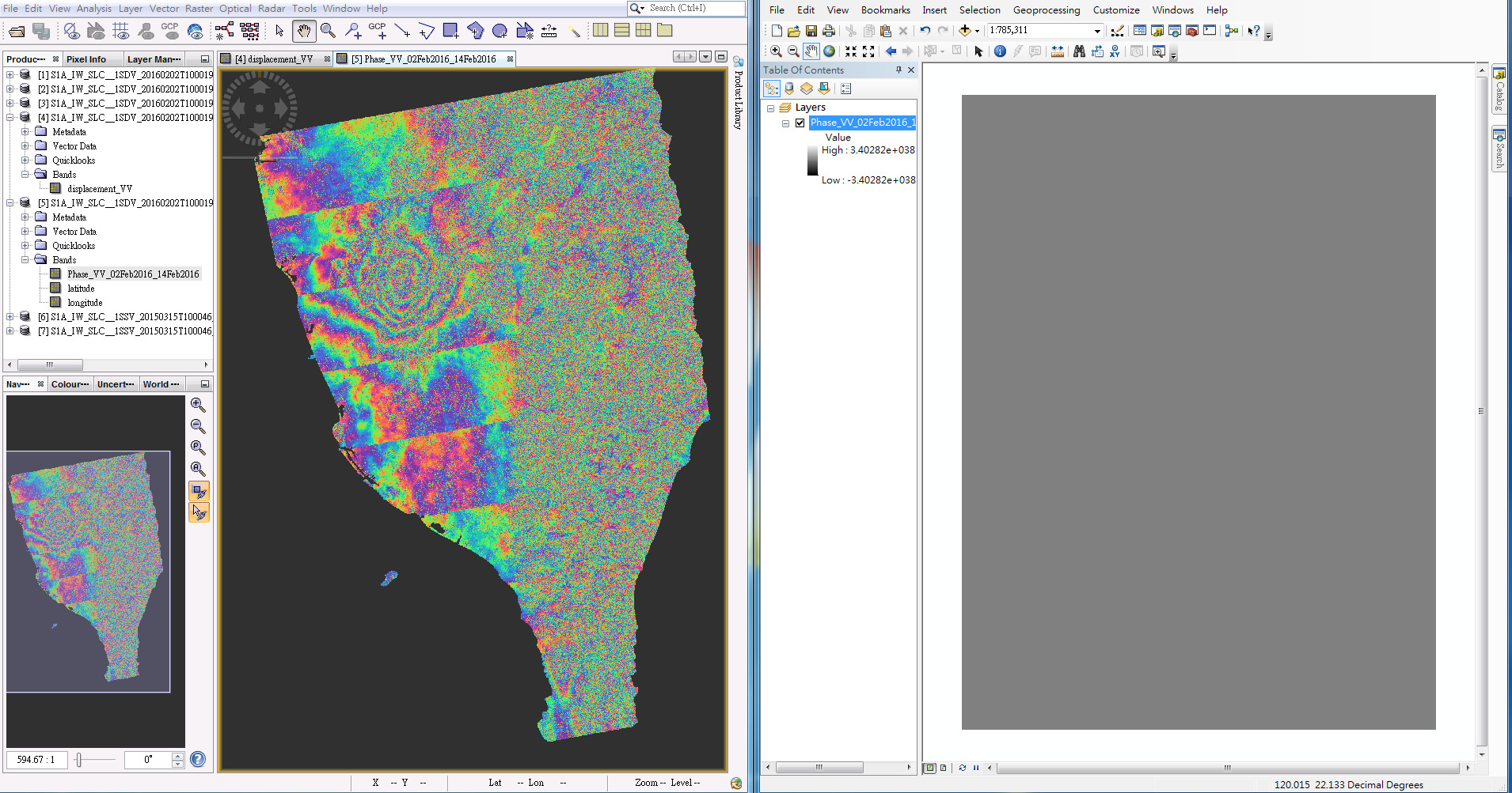 Exporting Files out of SNAP correctly for ArcMap