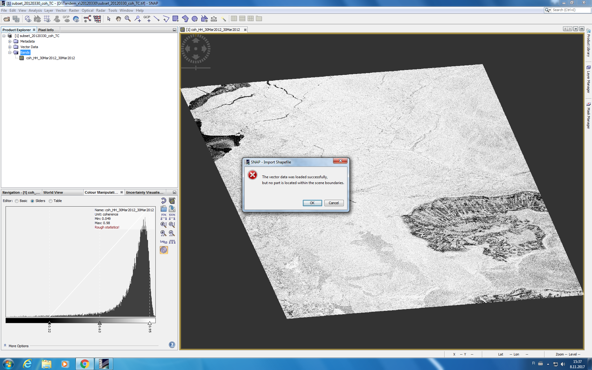 Masking land area by using OSM (Open Street Map) shapefile data