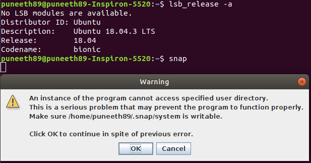 Installation problem in Linux - snap - STEP Forum
