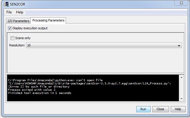 Sen2cor run problem_ anaconda error - sen2cor - STEP Forum