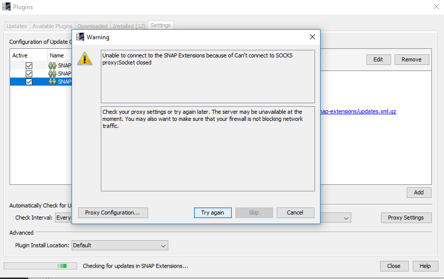 Updating SNAP6 modules: networking problem - snap - STEP Forum