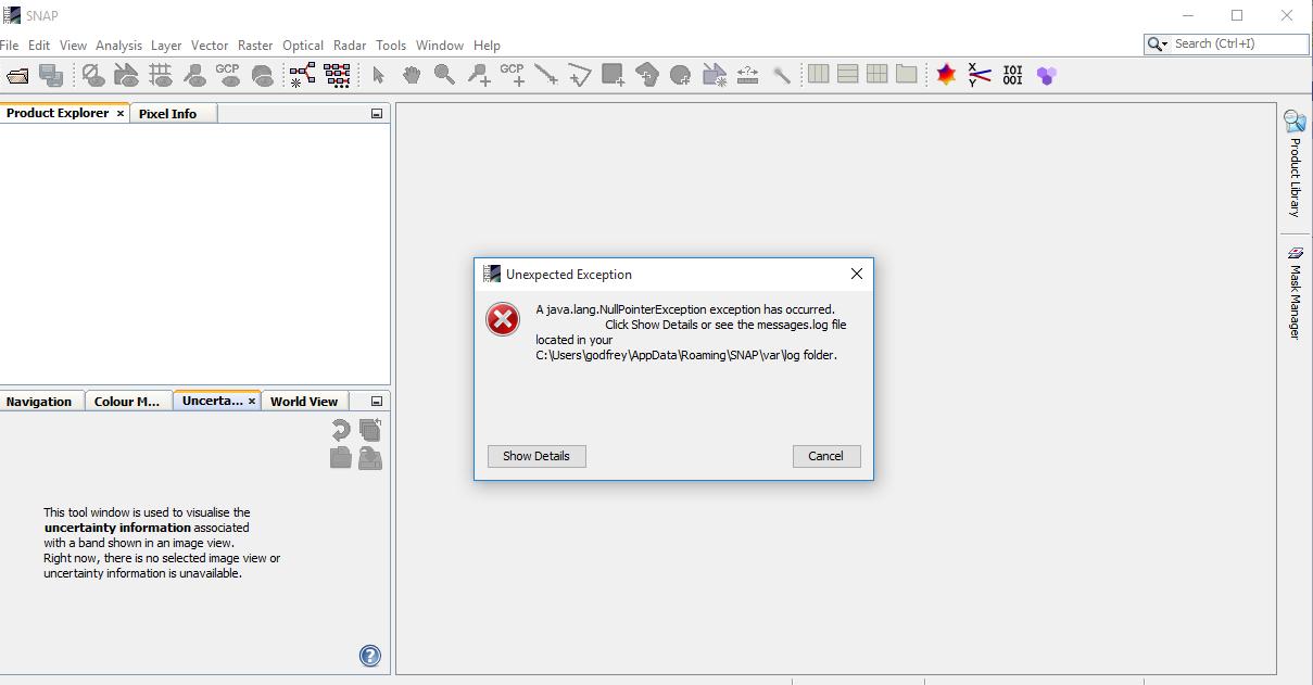 Java lang NullPointer exception error in windows 10 (32bit