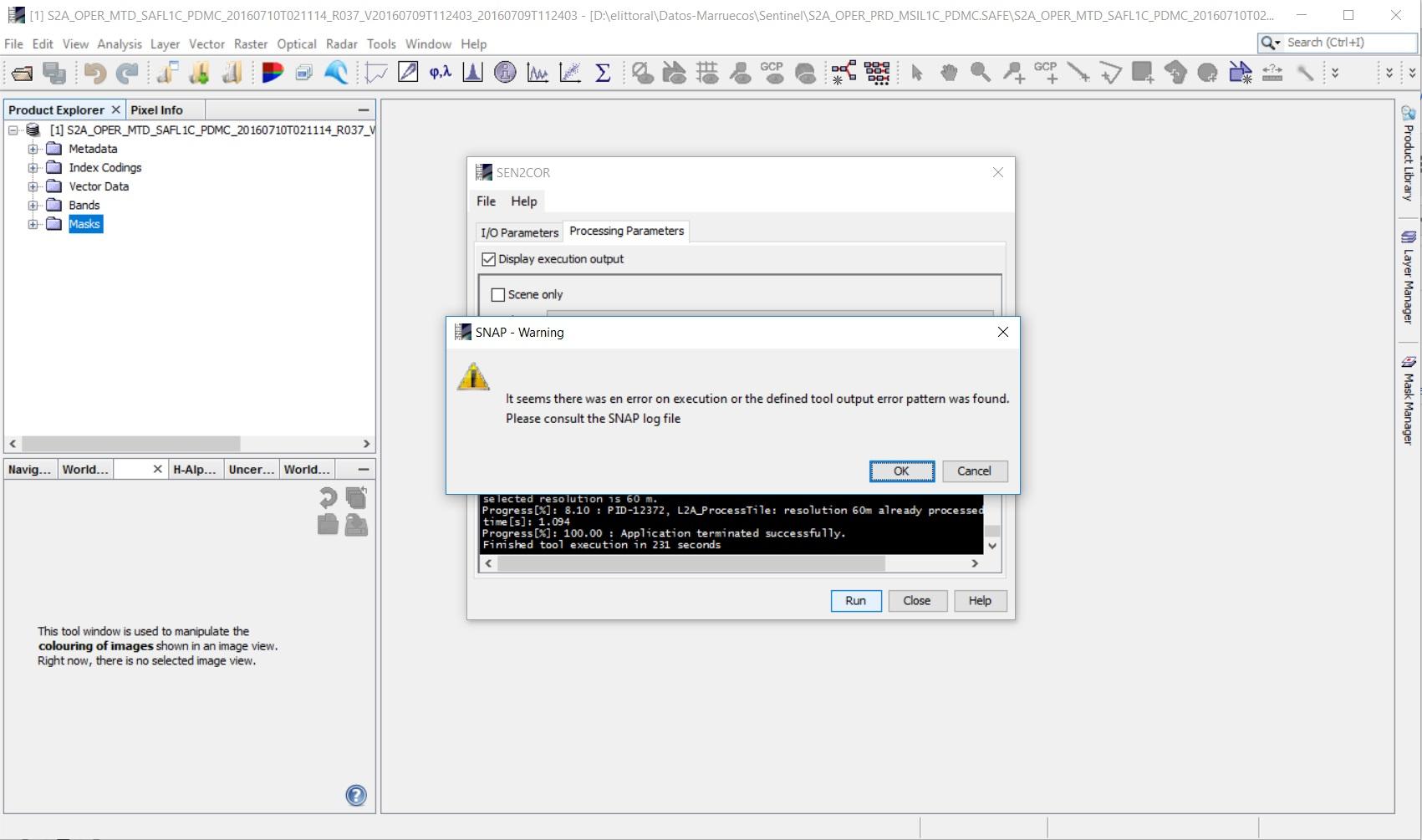 Error excuting sen2cor - sen2cor - STEP Forum