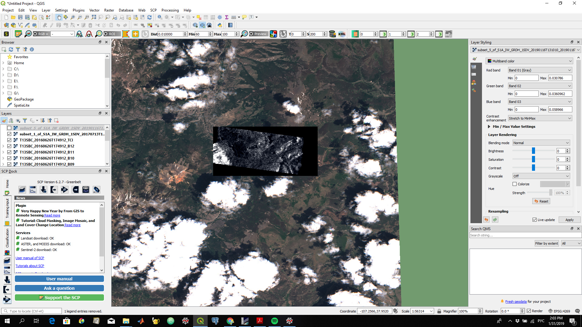 S1 tile in QGIS: Zero values - s1tbx - STEP Forum