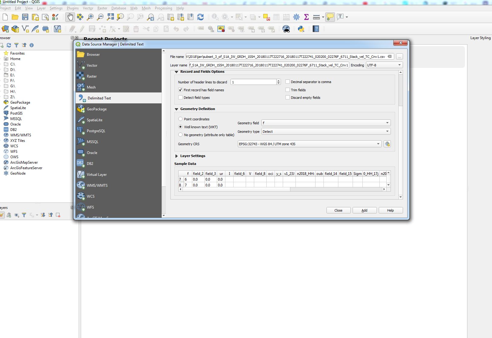 csv file not open in Qgis - s1tbx - STEP Forum