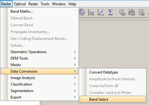 Exporting sentinel 1 band to Geotiff - snap - STEP Forum
