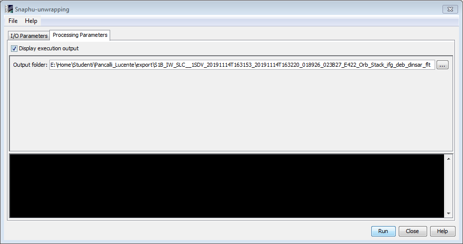 output folder