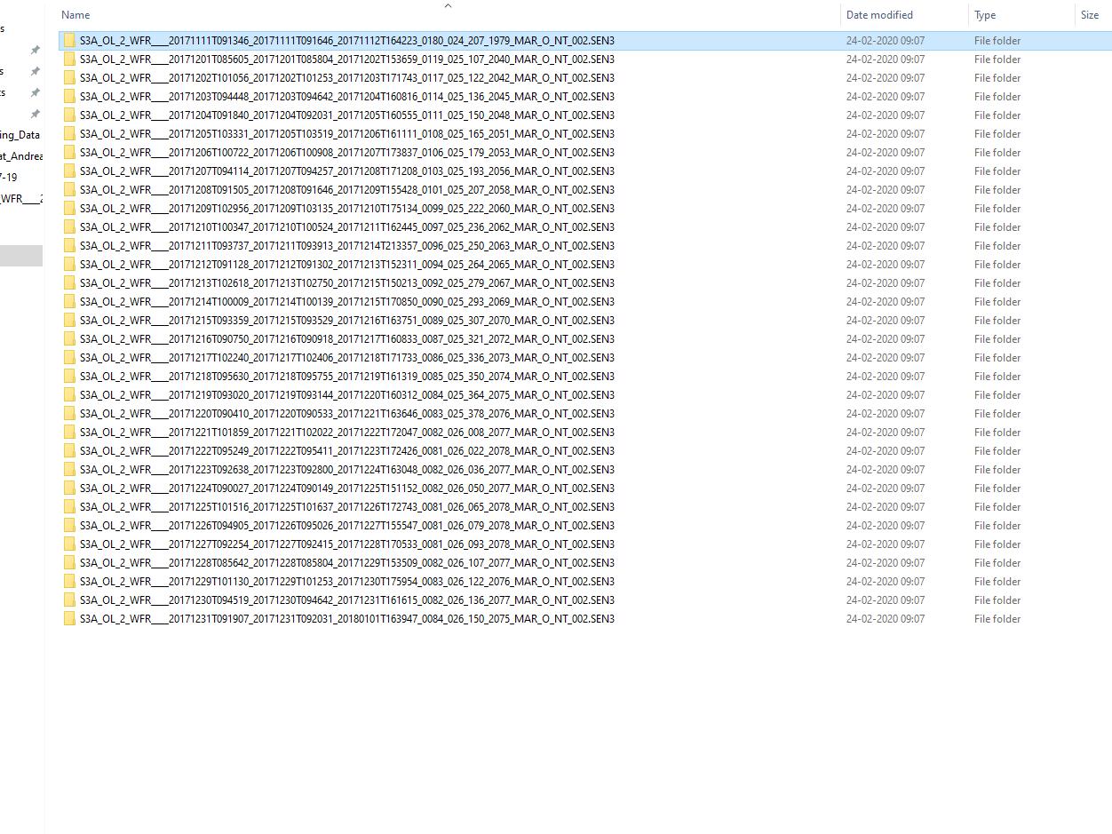 Sentinel3_slave products_folder